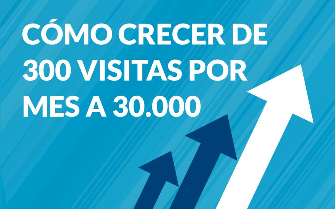 como aumentar visitas en tu web de 300 a 30000 al mes